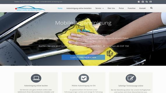 Mobile Autoreinigung Svajcarska _ Cirih - INdizajn Studio Banja Luka - izrada web stranica i graficki dizajn