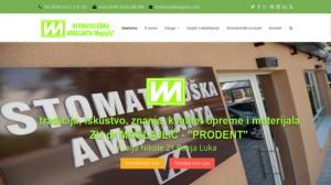 Stomatoloska ambulanta Maglajlic - PRODENT Banja Luka - INdizajn Studio - izrada web stranica i graficki dizajn