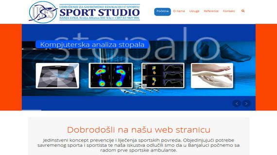 Sport Studio Banja Luka - INdizajn Studio Banja Luka - izrada web stranica i graficki dizajn