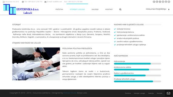 Izotehnika d..o.o. Laktasi - INdizajn Studio - izrada web stranica i graficki dizajn