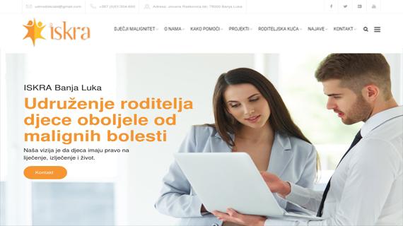Udruzenje roditelja-djece oboljele od malignih bolesti ISKRA Republika Srpska-INdizajn-Studio-izrada-web-stranica-i-graficki-dizajn