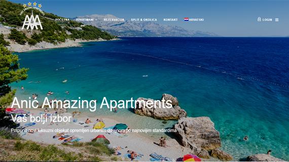 AAA ANIC AMAZING APARTMENTS SPLIT - INdizajn Studio - izrada web stranica i graficki dizajn