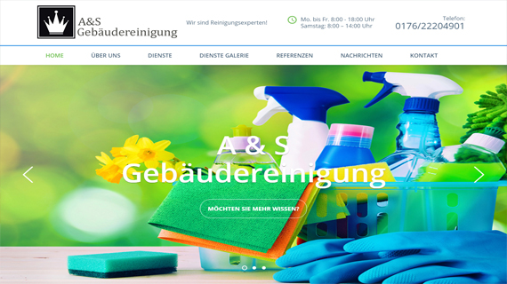 A-S GEBAUDEREINIGUNG - INdizajn Studio - izrada web stranica i graficki dizajn