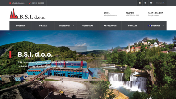 BSI DOO JAJCE - INdizajn Studio - izrada web stranica i graficki dizajn